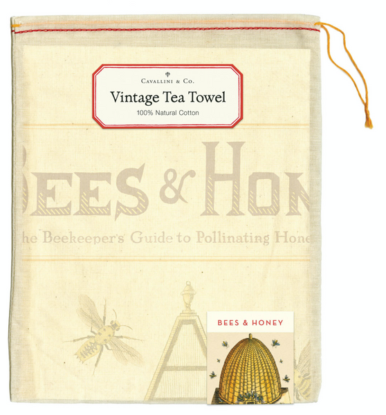 Vintage Bees & Honey Tea Towel