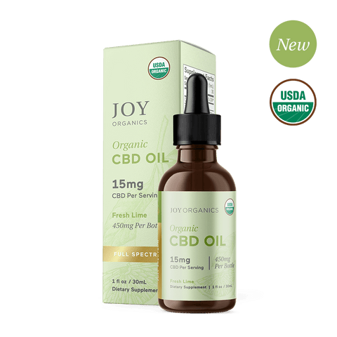 JOY ORGANICS Fresh Lime Organic CBD Tincture (Full Spectrum )