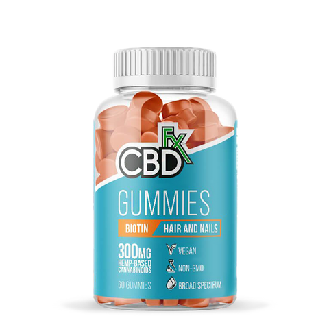CBDFX  CBD GUMMIES WITH BIOTIN FOR HAIR AND NAILS