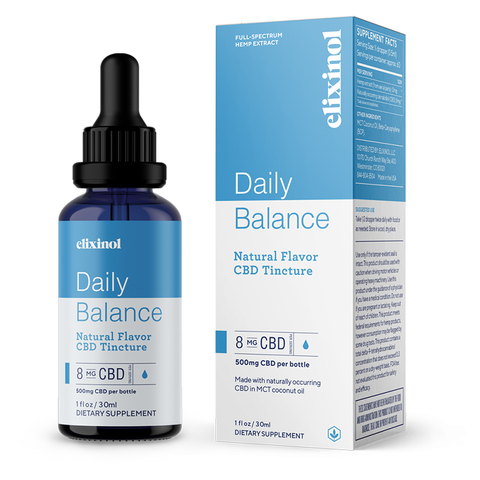 Elixinol Daily Balance Tincture Full Spectrum CBD Oil