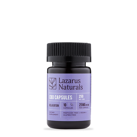 Lazarus Naturals Relaxation Blend 25mg CBD Isolate Capsules 10