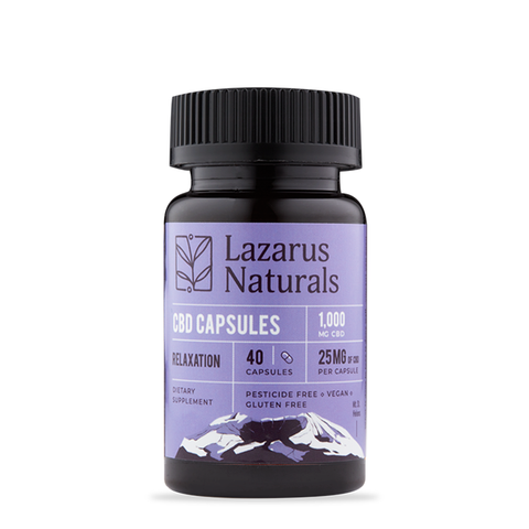 Lazarus Naturals Relaxation Blend 25mg CBD Isolate Capsules 40