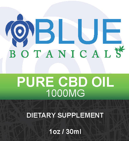 Blue Botanicals Pure CBD Oil with Natural Flavor  1000mg