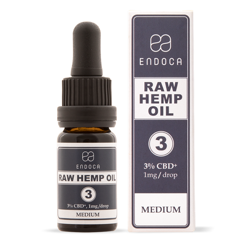 ENDOCA  RAW CBD OIL 30MG CBD+/ML (MEDIUM)