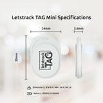 Letstrack TAG MINI Smart Bluetooth Tracker