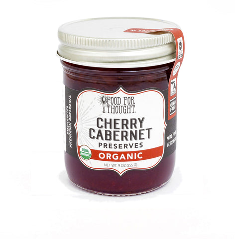 Food for Thought Organic Cherry Cabernet Preserves