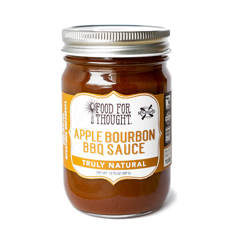 Food for Thought Truly Natural Apple Bourbon BBQ Sauce