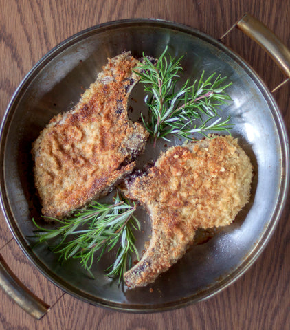 Image of Pan-fried Pork Chops with Maple Cream Mustard