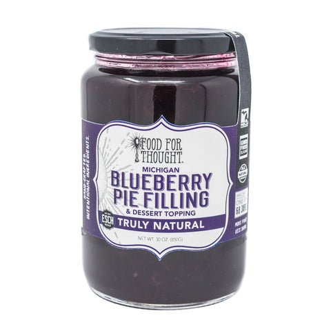 Food for Thought Truly Natural Michigan BLUEBERRY PIE FILLING & Dessert Topping