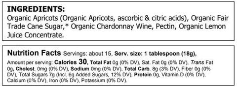 Image of Organic Apricot Chardonnay Preserves