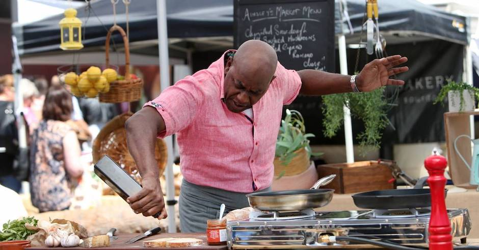 Ainsley Harriott visit a boon for market producers