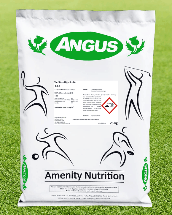 Angus Turf Care High K & Fe Fertiliser 20kg