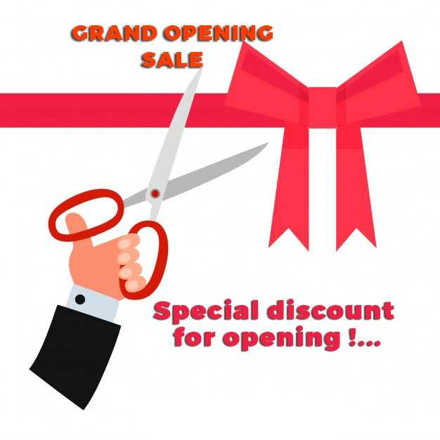 Grand Opening Special Sale Discount