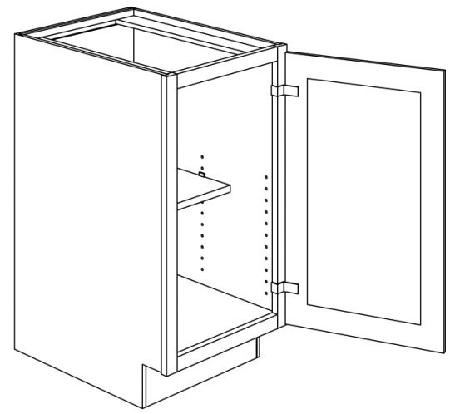 FM KC  SINGLE DOOR BASE CABINETS