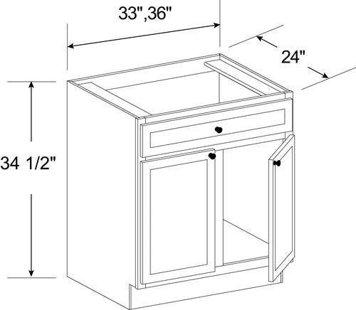 2 DOORS SINK BASE CABINETS