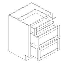 EC SW 3 DRAWER BASE CABINETS