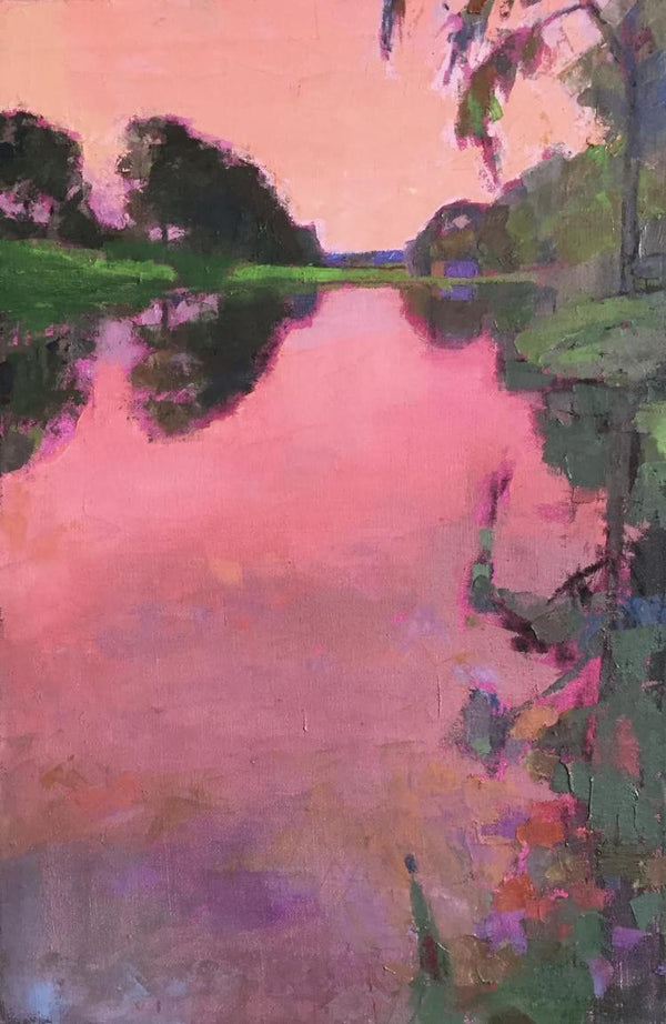 """Radiant Pink Sunset"""