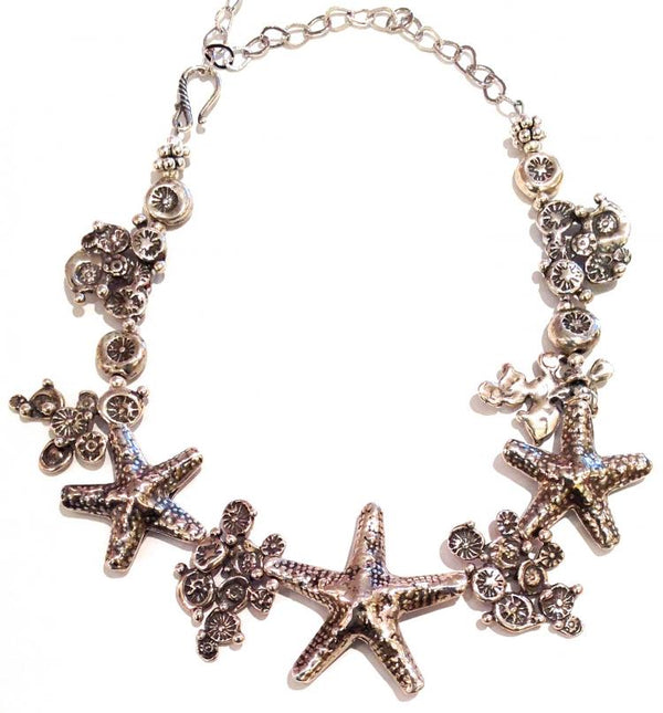 """Sterling Silver Starfish Necklace"""