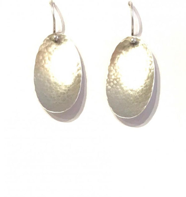 """Vertical Concave Oval Earrings"""
