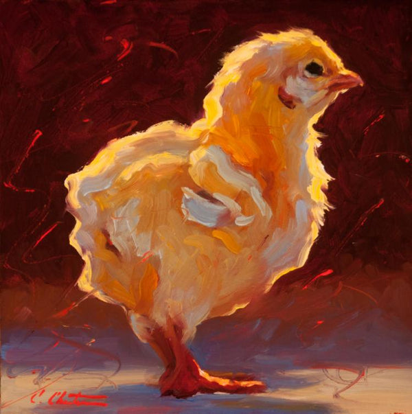 """Contemplative Chick"""