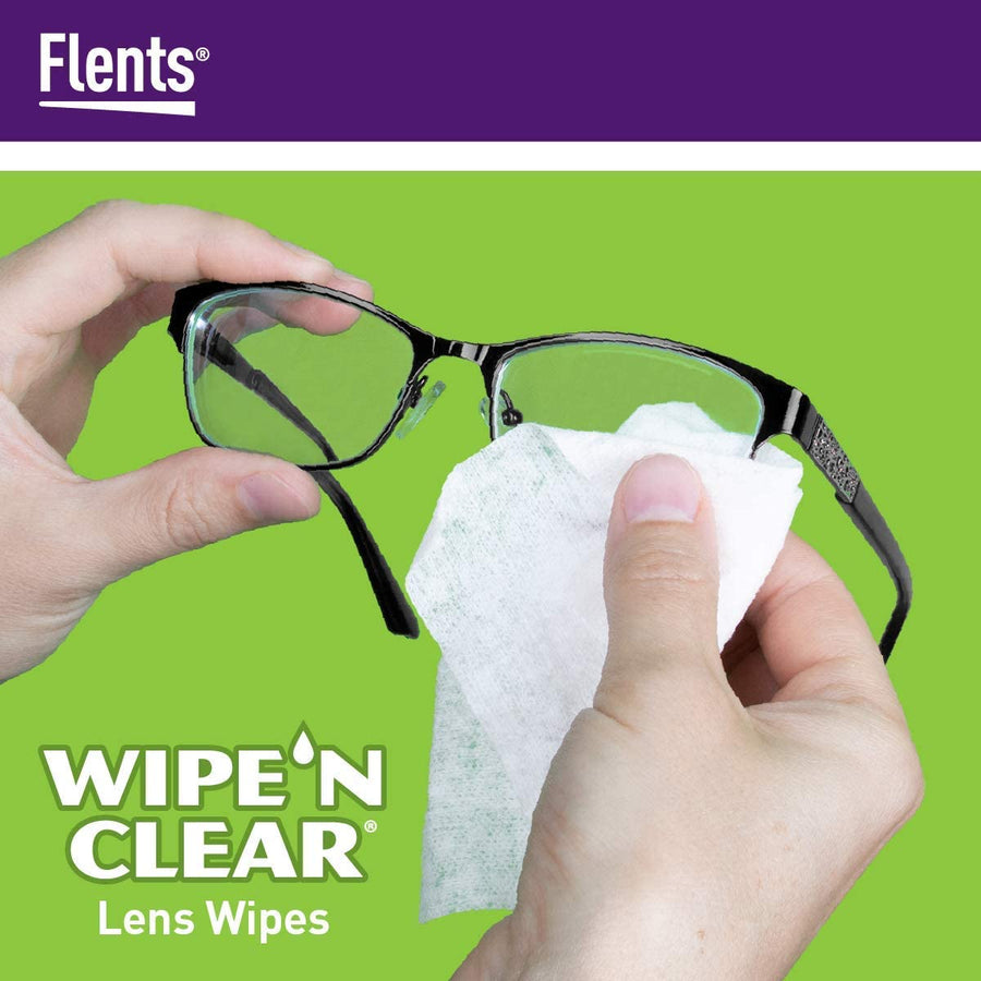 How to use Flents® Wipe 'n Clear® Lens Wipes