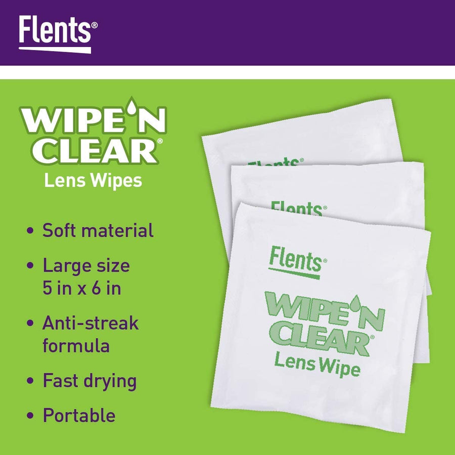 Features of Flents® Wipe 'n Clear® Lens Cleaning Wipes