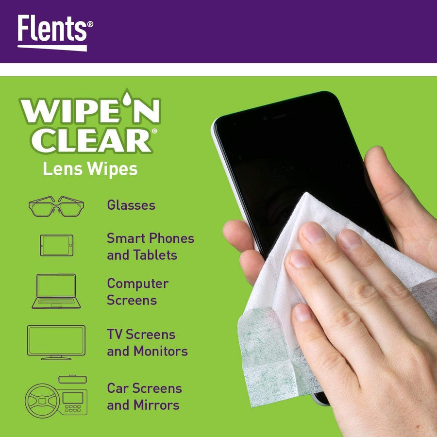 Use Flents® Wipe 'n Clear® Lens Cleaning Wipes on Electronics
