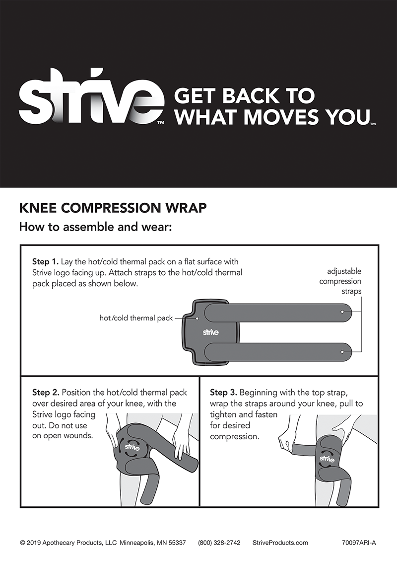 How to use Strive Hot & Cold Compression Knee Wrap