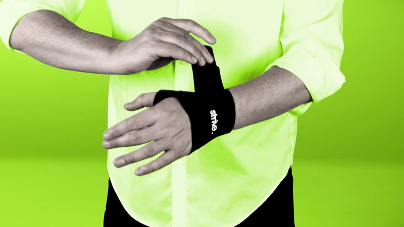 Use Strive Wrist Compression Wrap for wrist support