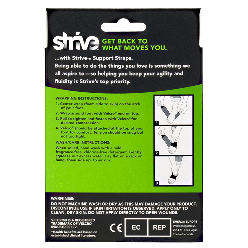 Strive Plantar Fasciitis Support Strap instructions