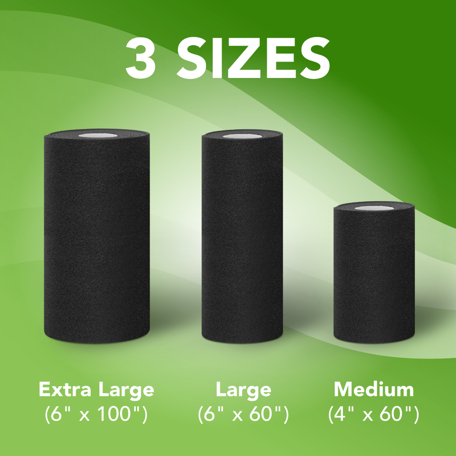 3 sizes of compression wraps