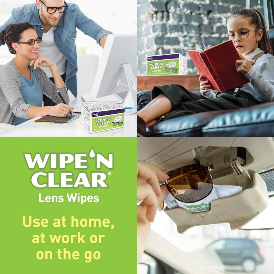 People using Flents® Wipe 'n Clear® Lens Wipes