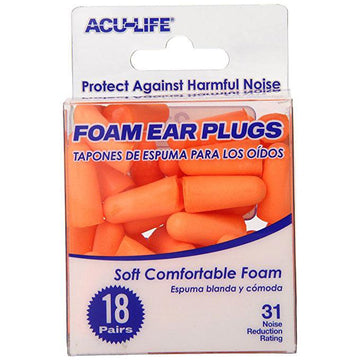 Foam Ear Plugs (18 Pair)