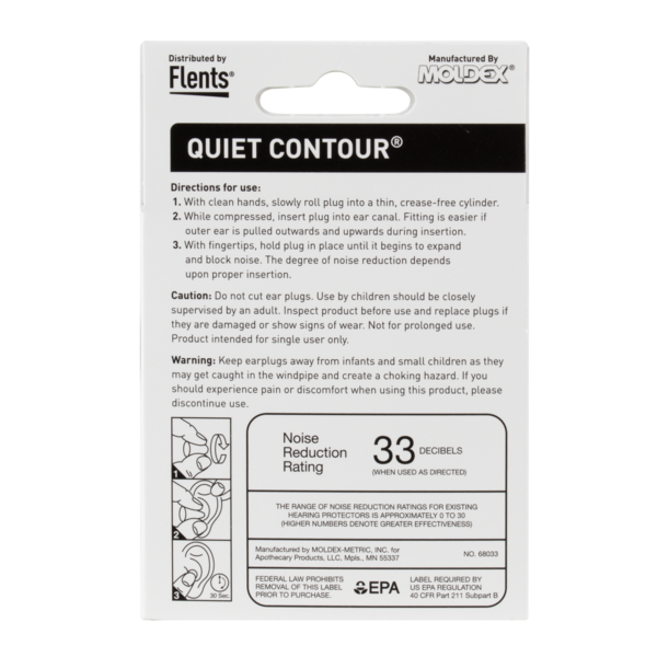 Quiet Contour® Ear Plugs directions