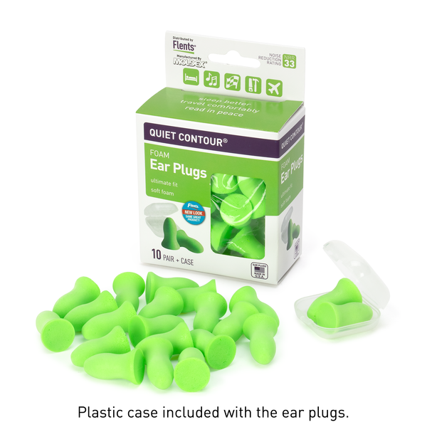 10 pair per box - Quiet Contour® Ear Plugs