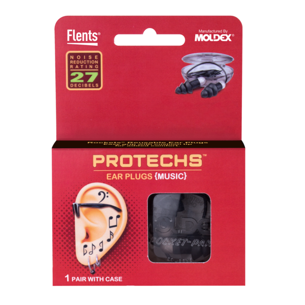 PROTECHS™ Ear Plugs for MUSIC package