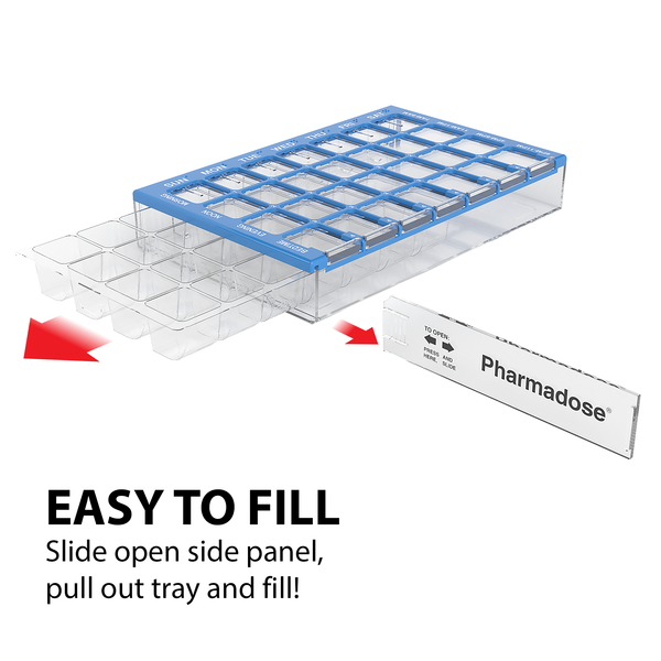 Easy to Fill Maxi-Pharmadose Pill Planner