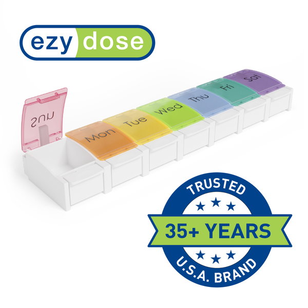 Ezy Dose Weekly Pill Planner, Rainbow