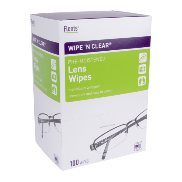 Box of 100 Wipe 'n Clear® Lens Wipes