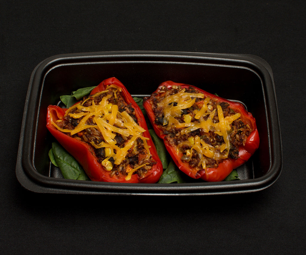 Brown Rice & Quinoa Stuffed Bell Peppers