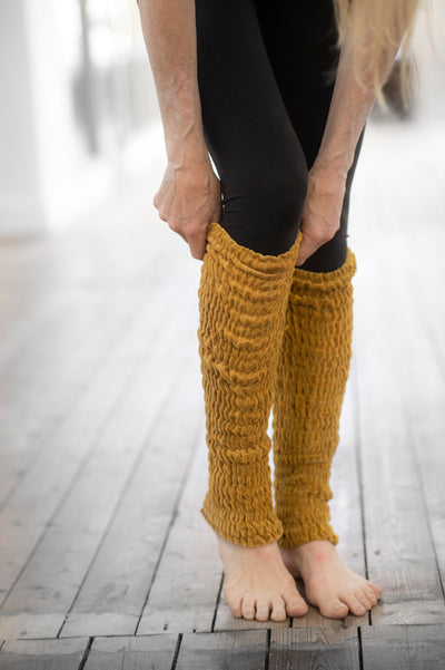 golden leg warmers