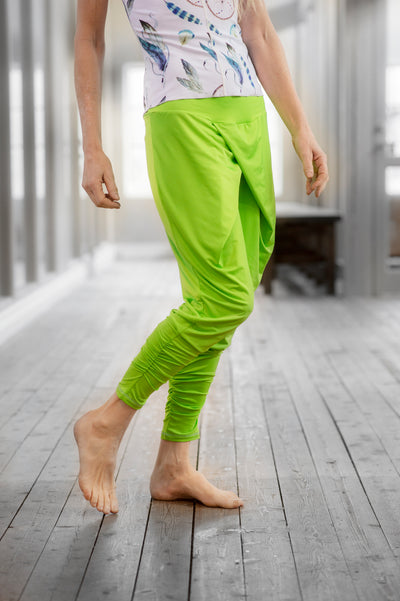 relaxed lime green harem pants