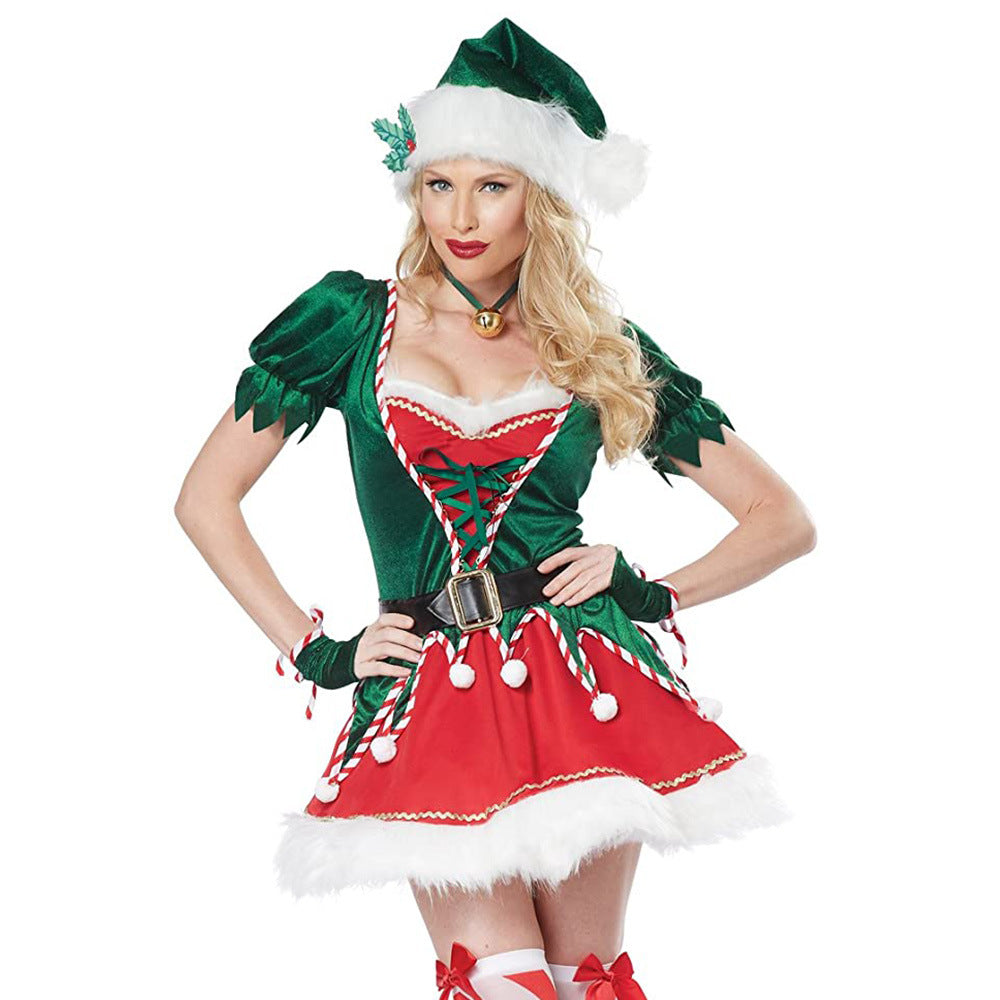 Sexy Christmas Green Elf Costumes For Woman
