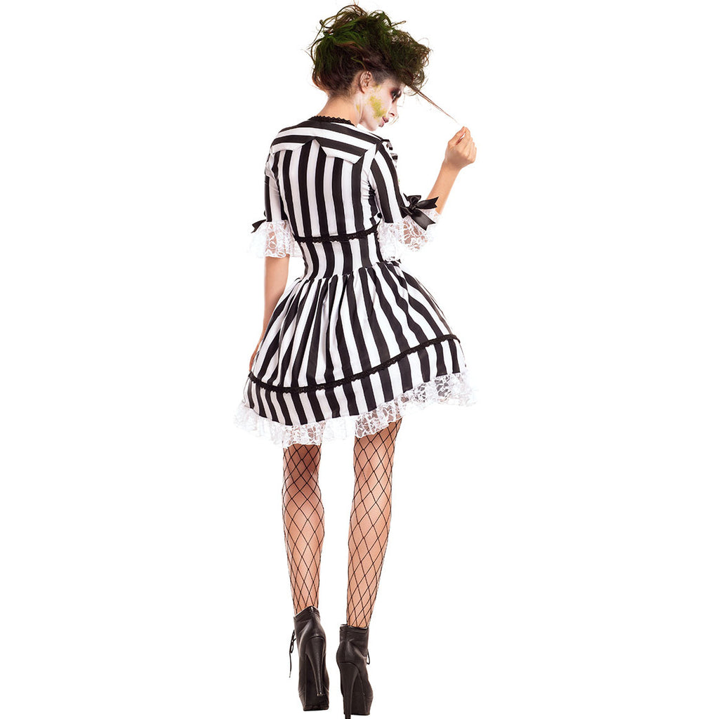 Fancy Women's Halloween Beetlejuice Costume Black