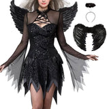 Black/White Halloween Devil Angel Costume