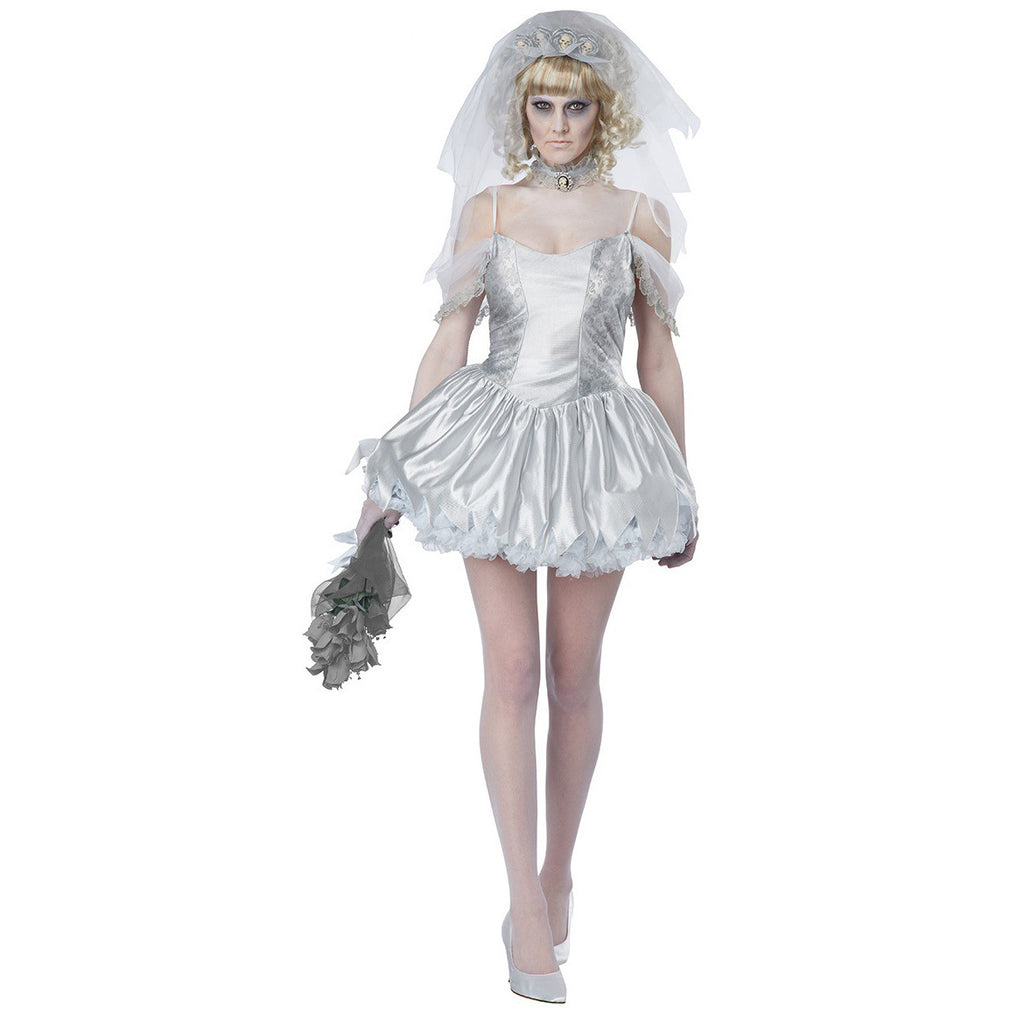 White Sexy Adult Corpse Bride Of Chucky Costume
