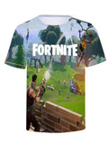Short Sleeve Crew Neck Fortnite Halloween Print T Shirt