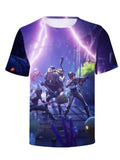 Casual Crew Neck Short Sleeve Fortnite Halloween Print T Shirt