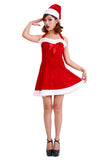 Cute Mini Girl Red Santa Claus Costume
