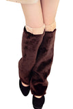 Adult Faux Fur Boot Covers Christmas Leg Warmers Coffee